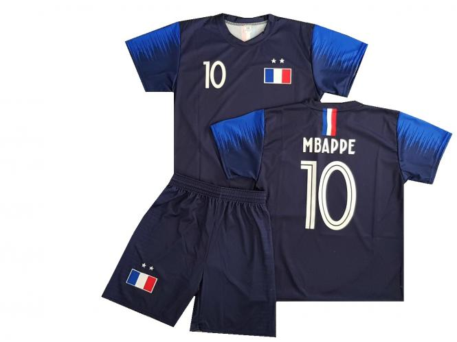 France MBAPPE Fanshirt & Shorts Set kinder herren trikot shirt shorts