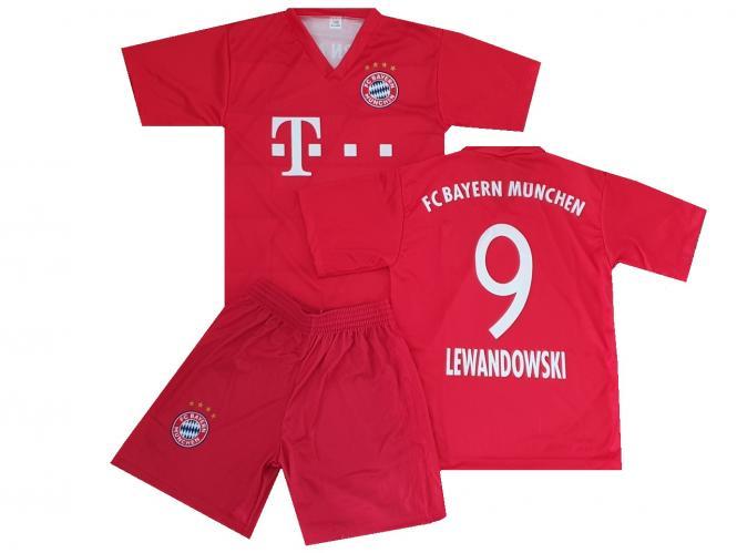 FC Bayern Munchen Fanshirt & shorts Lewandowski kinder